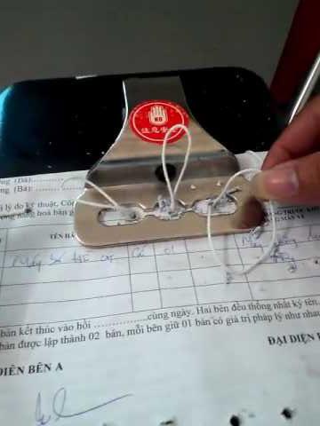Cách sử dụng máy đóng chứng từ