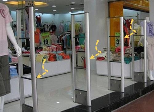Cổng từ an ninh cho shop thời trang giúp hạn chế tình trạng trộm cắp hàng hóa